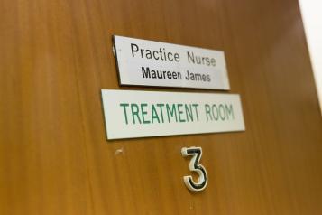 practice nurse door