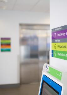 signs inside hospital